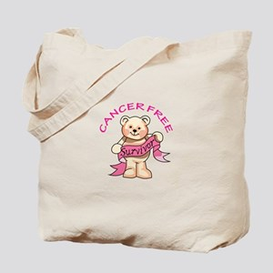 CANCER FREE BEAR Tote Bag