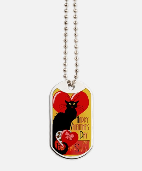 Le Chat Noir Valentine Dog Tags