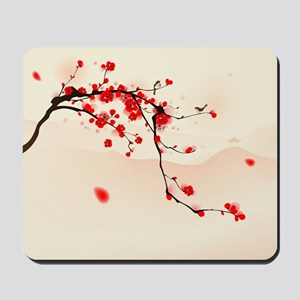 ASIAN TREE BRANCH Mousepad