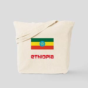 Ethiopia Flag Retro Red Design Tote Bag