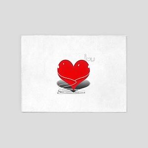 i heart 5'x7'Area Rug