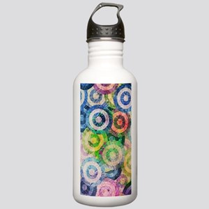 Multi Color Grunge Cir Stainless Water Bottle 1.0L