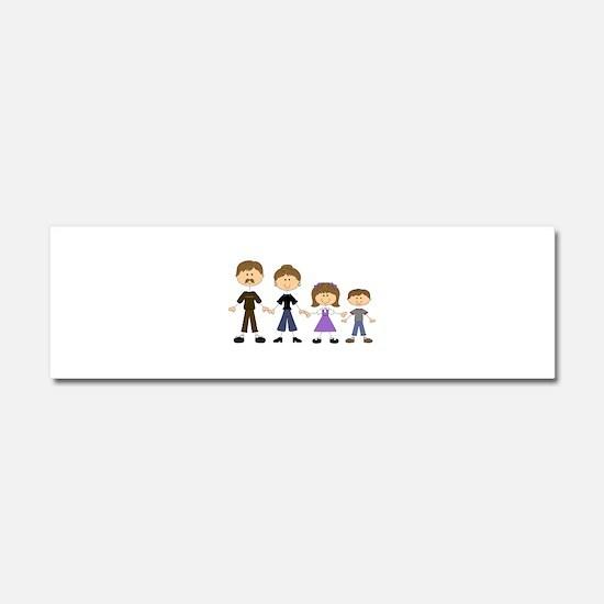 STICK FIGURE FAMILY Car Magnet 10 x 3