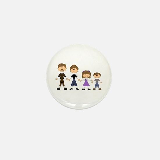 STICK FIGURE FAMILY Mini Button