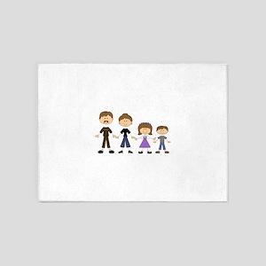 STICK FIGURE FAMILY 5'x7'Area Rug