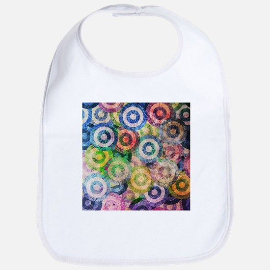 Multi Color Grunge Circles Pattern Bib