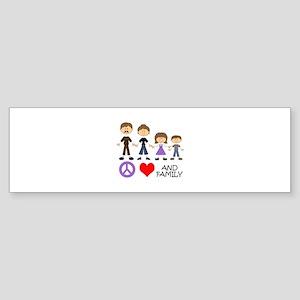 Peace Love And Family Bumper Sticker