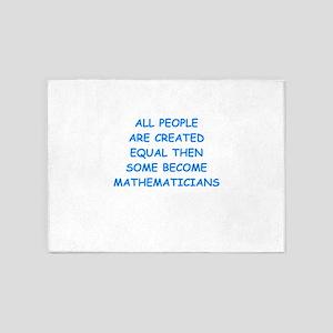 mathematicians 5'x7'Area Rug