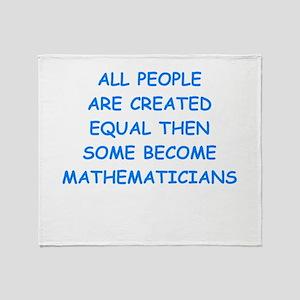 mathematicians Throw Blanket