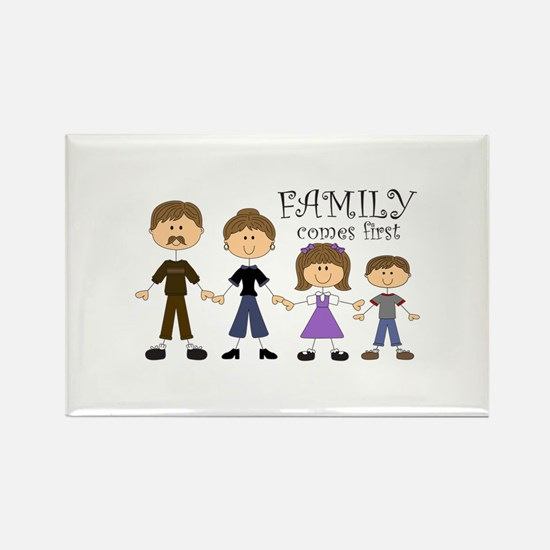 Family Comes First Magnets