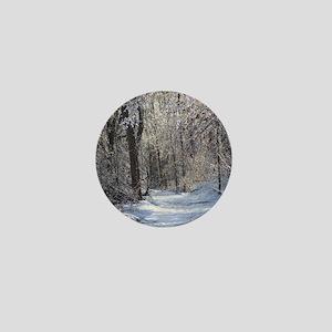 Icy Snow Trail Mini Button