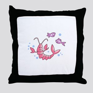 LOBSTER & FISH Throw Pillow
