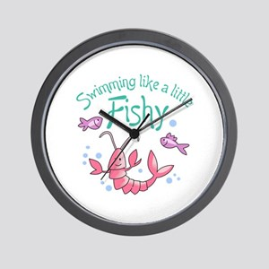 SWIMMING LIKE A FISHY Wall Clock