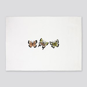 BUTTERFLY BORDER 5'x7'Area Rug