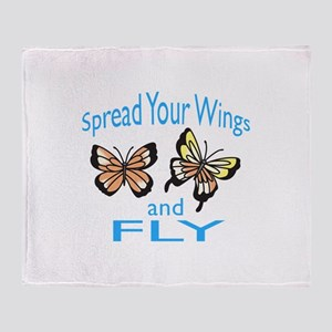 SPREAD YOUR WINGS Throw Blanket