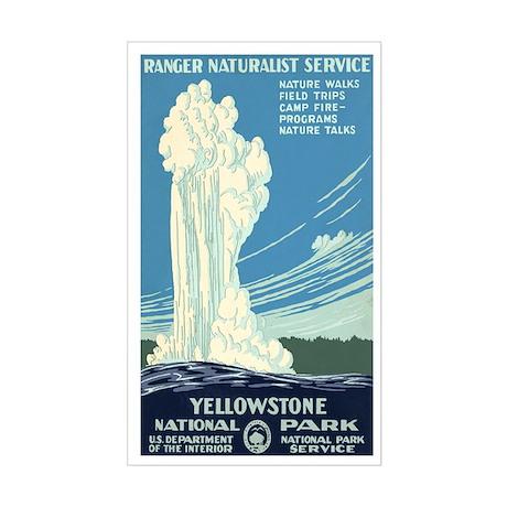 1930s Vintage Yellowstone National Park Sticker (R