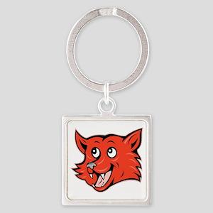 Fox Head Square Keychain