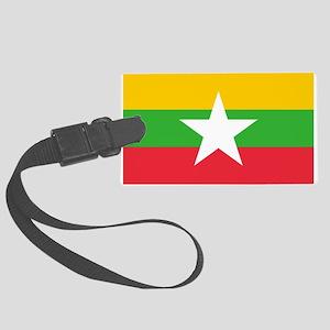 Myanmar Flag Large Luggage Tag