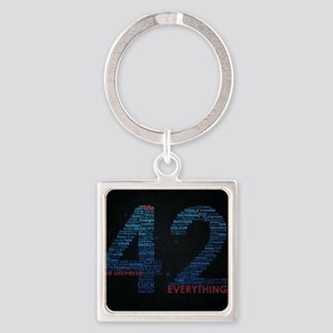 The universe Square Keychain
