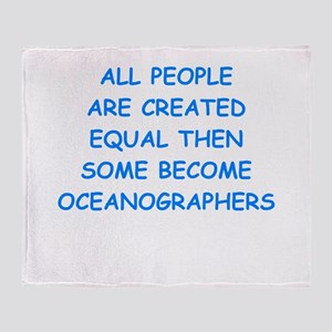 oceanographer Throw Blanket