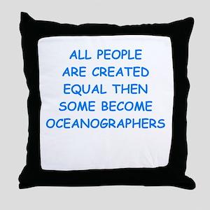 oceanographer Throw Pillow