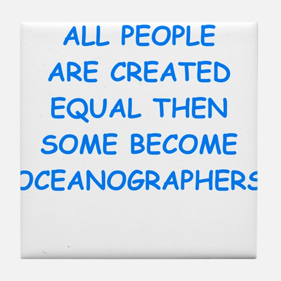 oceanographer Tile Coaster