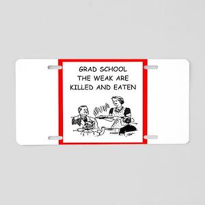 grad student Aluminum License Plate