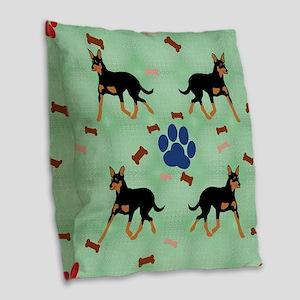 Australian Kelpie Burlap Throw Pillow