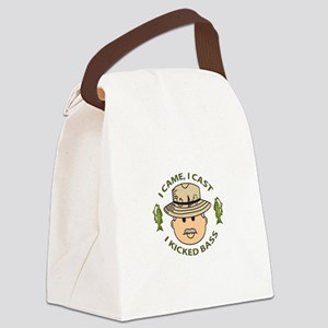 I KICKED BASS Canvas Lunch Bag