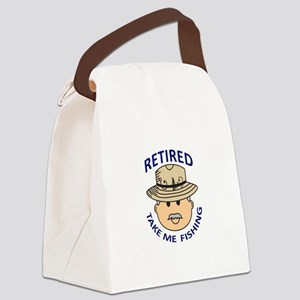 RETIRED TAKE ME FISHING Canvas Lunch Bag