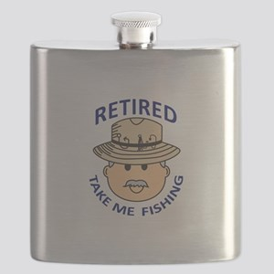 RETIRED TAKE ME FISHING Flask