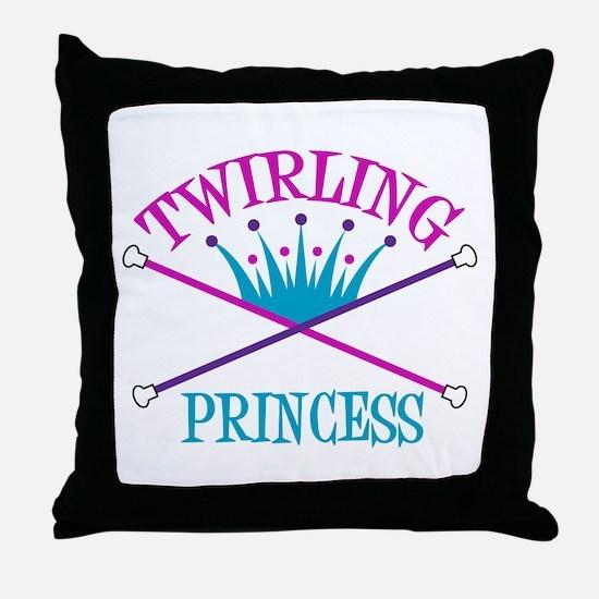 Twirling Princess Throw Pillow