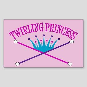 Twirling Princess Rectangle Sticker