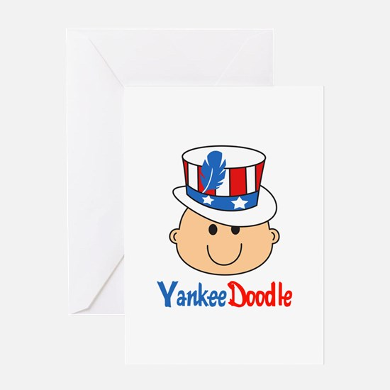 YANKEE DOODLE BABY Greeting Cards