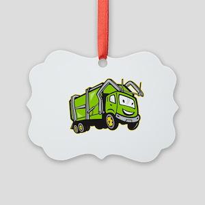 Rubbish Truck Picture Ornament
