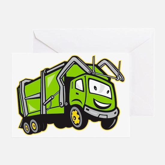 Rubbish Truck Greeting Card
