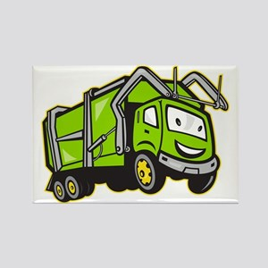 Rubbish Truck Rectangle Magnet