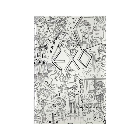 EXO Doodle Rectangle Magnet By Listing Store 127935590
