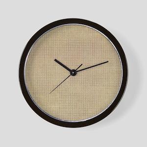 Faded Burlap Wall Clock