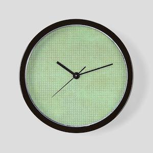 Faded Green Tweed Wall Clock