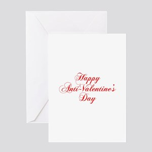 Happy Anti Valentines Day-cho red Greeting Cards