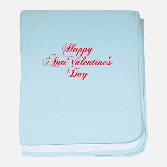 Happy Anti Valentines Day-cho red baby blanket