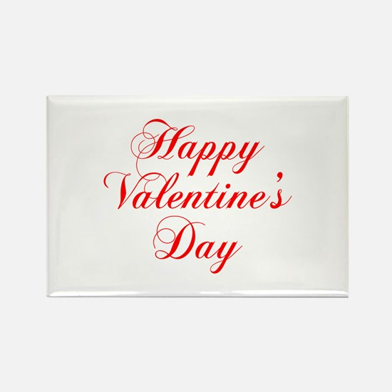 Happy Valentines Day-cho red Magnets