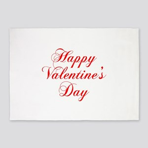 Happy Valentines Day-cho red 5'x7'Area Rug