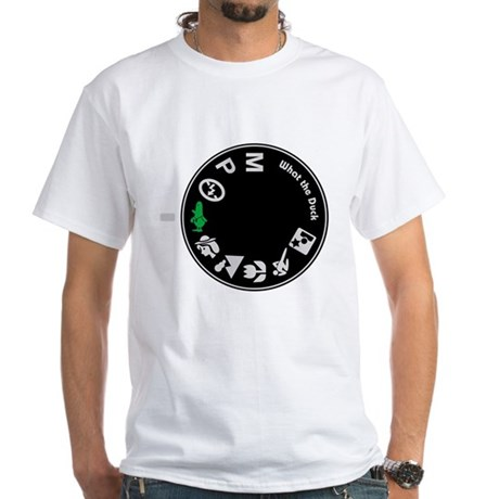 What the Duck: Dial White T-Shirt
