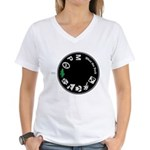 What the Duck: Dial Women's V-Neck T-Shirt