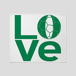 Nigerian LOVE Soccer Throw Blanket