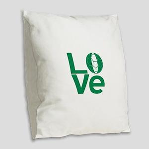 Nigerian LOVE Soccer Burlap Throw Pillow