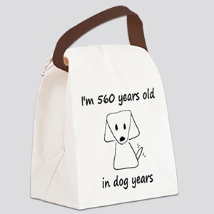 80 dog years 6 Canvas Lunch Bag