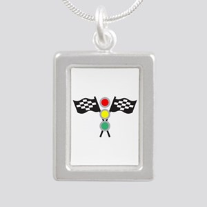 RACING FLAGS AND LIGHTS Necklaces